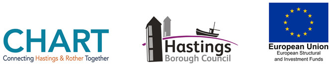 Hastings Council logo and European Union Structural Funds logo