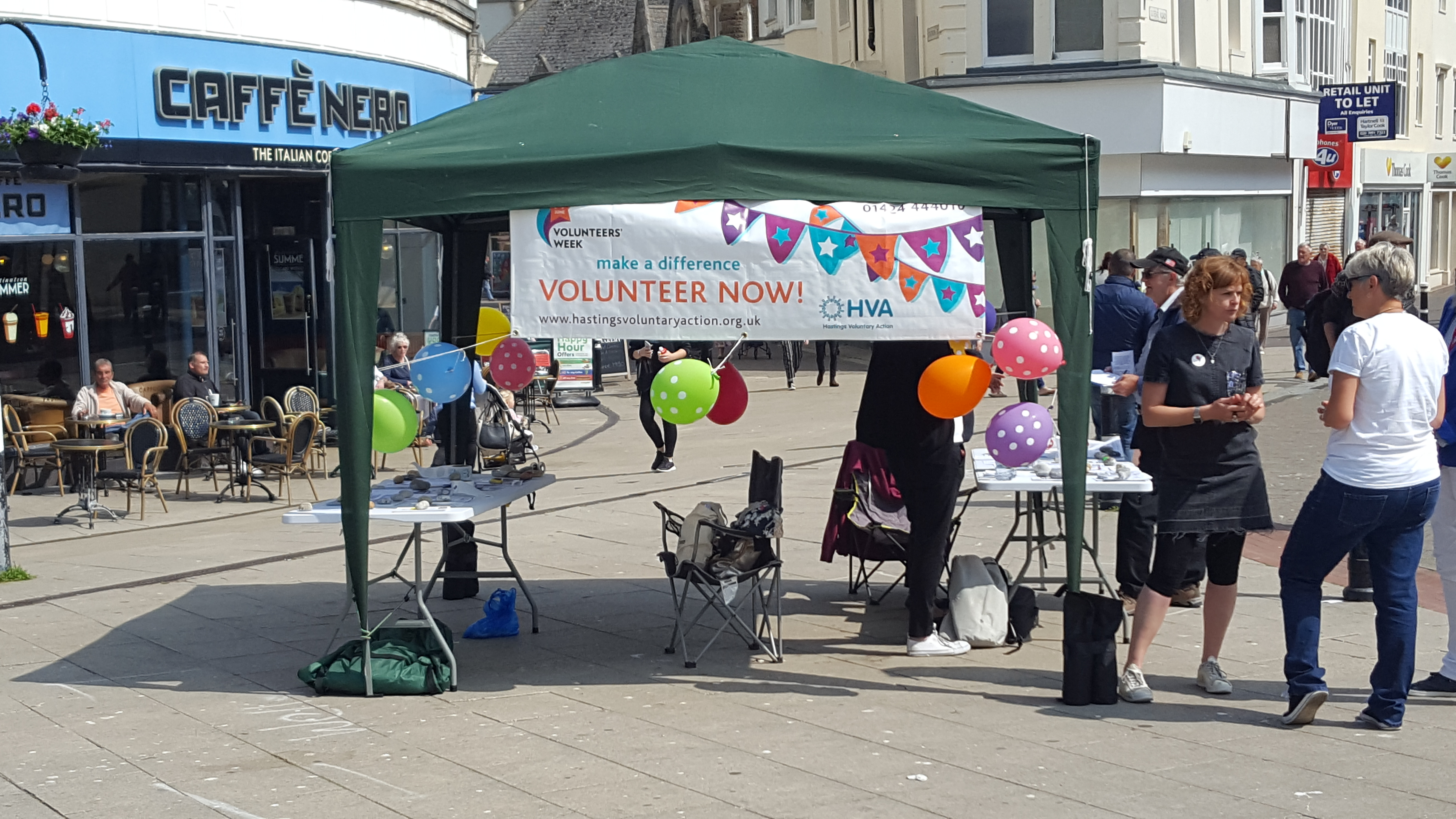 Volunteers' Week stall - Hastings 2018